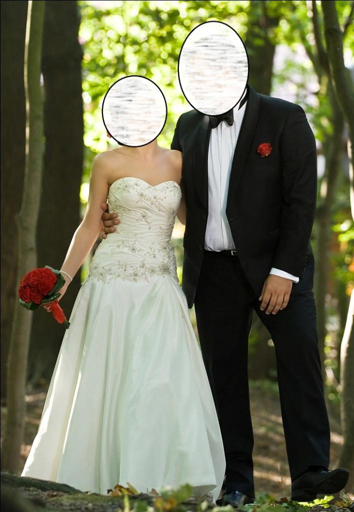 Suknia ślubna Justin Alexander 8349 Swarovski Crystal R36 34