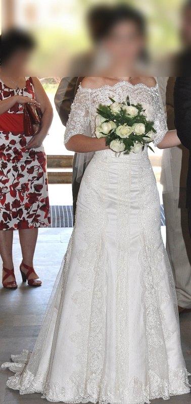 Wyjątkowa Suknia ślubna Hiszpańska Koronka Suknie ślubne