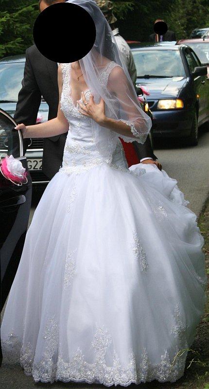 Suknia ślubna Z Trenem Suknie ślubne Sprzedaż Komis ślubny