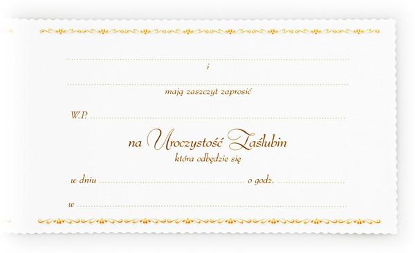Zaproszenia ślubne Inne Sprzedaż Komis ślubny