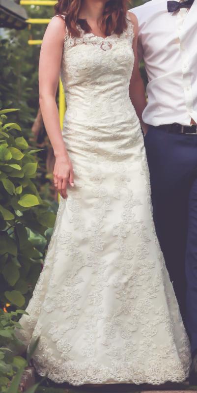 Suknia ślubna Annais Bridal Elisha Koronkowa Ecru 34 36 Kremowa