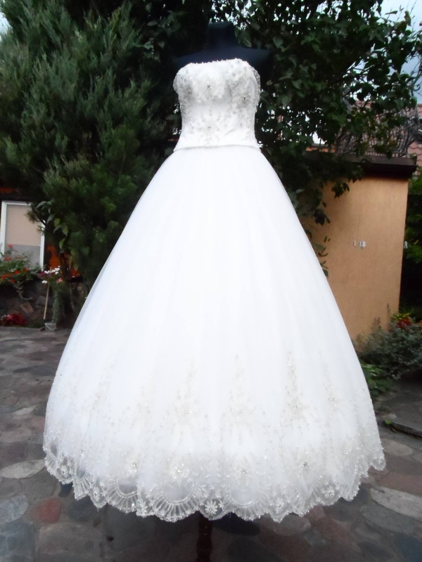 Bardzo dobryFantastyczny Suknia ślubna Darren Angel Viola Piekut kryształki Swarovskiego ID28