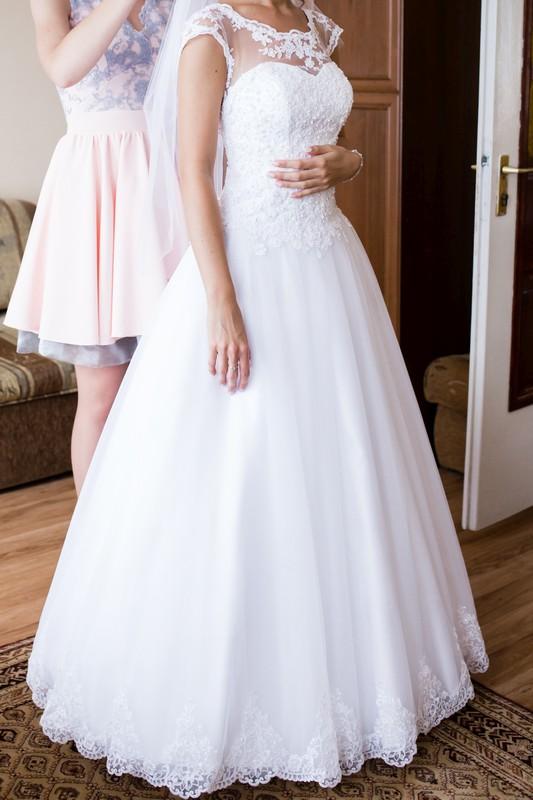 fcccd5d0aa Suknia ślubna Typu Princessa Koronka Kryształki Rozm 3436