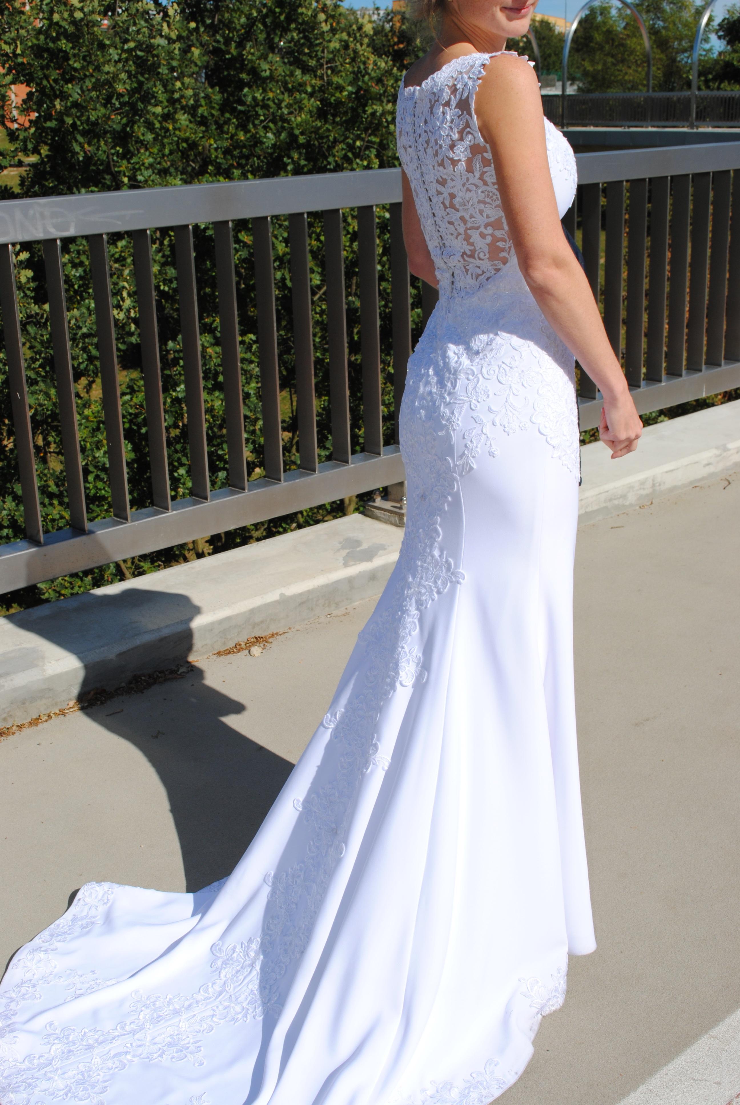 c6e877ce36 suknia ślubna rybka syrenka krepa pronovias    suknie ślubne ...
