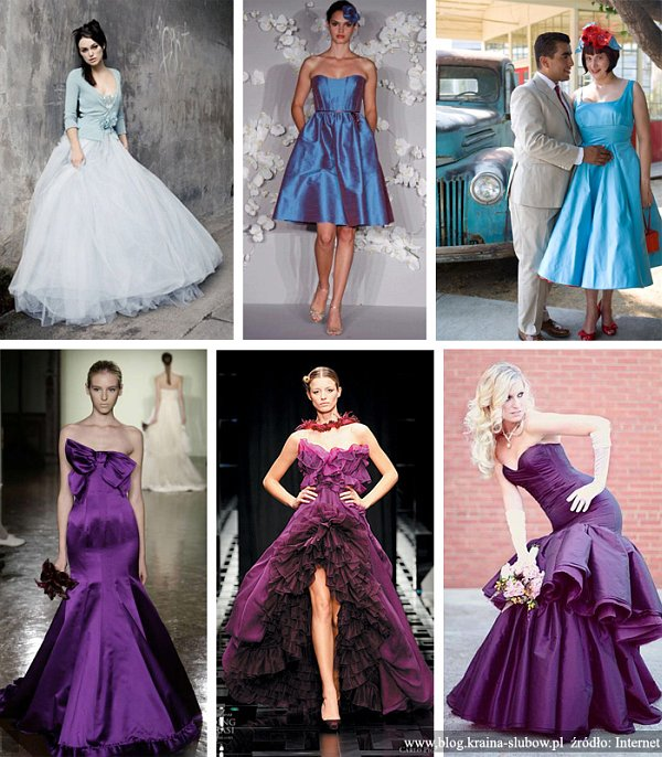 f571fd2e94 Kolorowe suknie ślubne